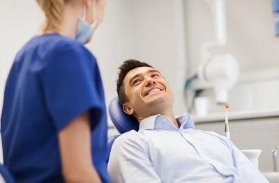Man smiling in dental chair | Dentist 95032